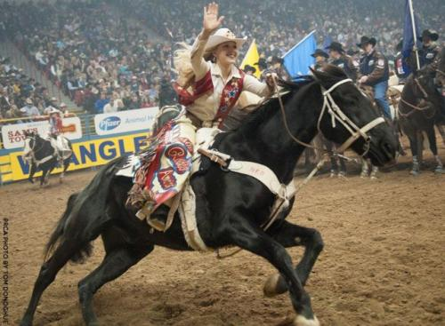 The final wave of Miss Rodeo America MacKenzie Carr at the NFR 2012 she is one I was able to give some horse lessons to and let her ride our horses!